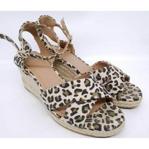 H&M Ladies  Ankle Strap Animal Print Sandals Sz 6